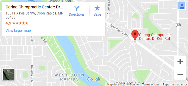 Map of Coon Rapids Chiropractors